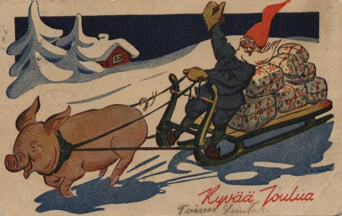 Немецкая открытка на новый год